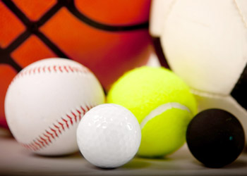 Image of different balls from differtent ball sports