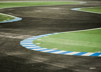 Winding racing track for motorsports