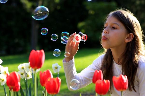 bubbles in the garden