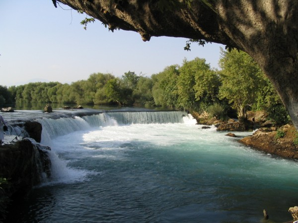 manavgat waterfall in turkey