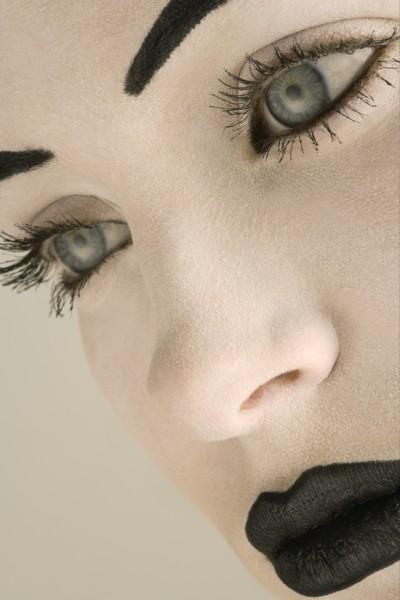 closeup of a womans face