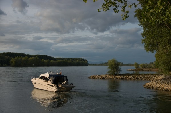 motorboat on the rhine