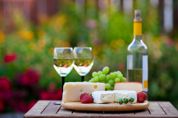 wine and cheese garden party