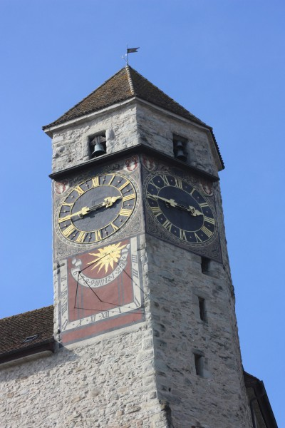 sundial at the castle tower