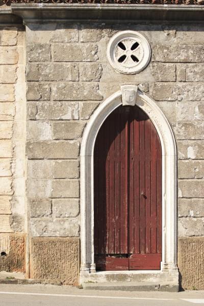 old church door in wood
