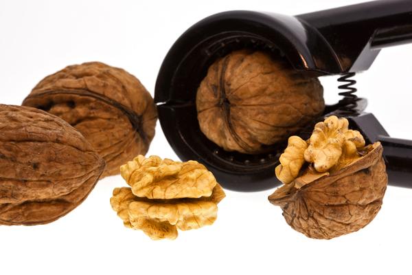 walnuts with nutcracker