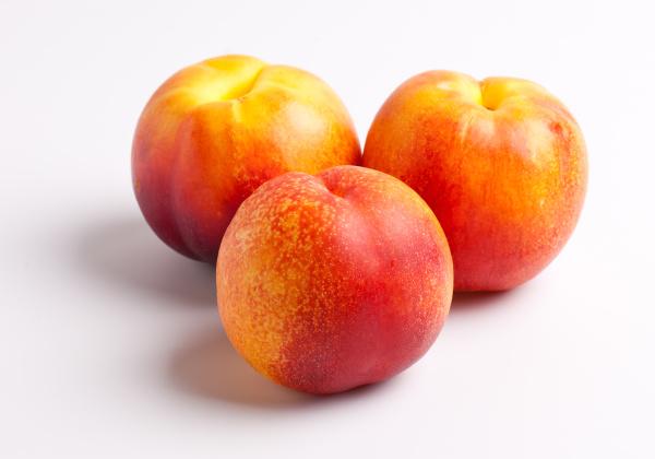 nectarines on white background