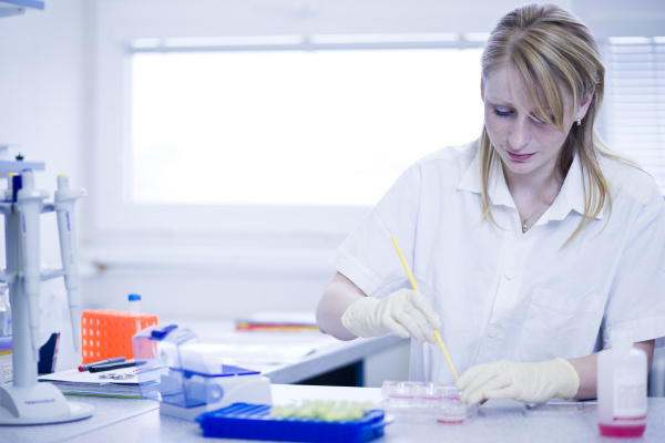 portrait of a female researcher doing
