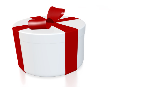 round gift box with path