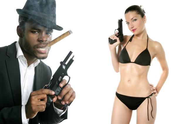 african american mafia man smoking cigar