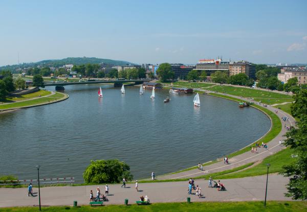 boulevard vistula in krakow