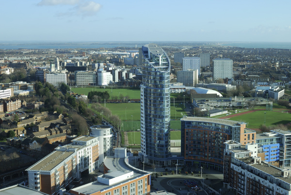 view across portsmouth hampshire