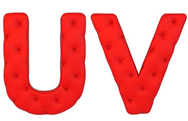 luxury red leather font u v