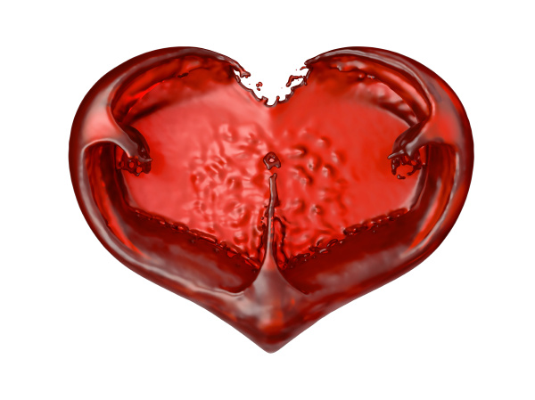 passion and love red liquid heart