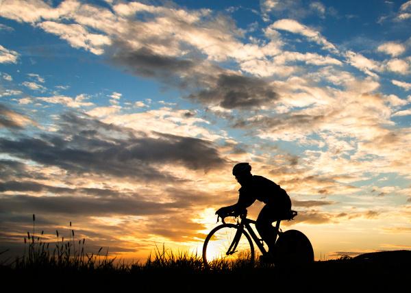 triathlete on bicycle