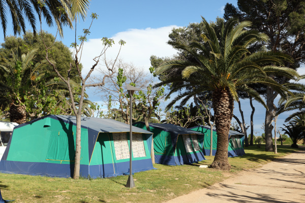 tents on a camping in spain