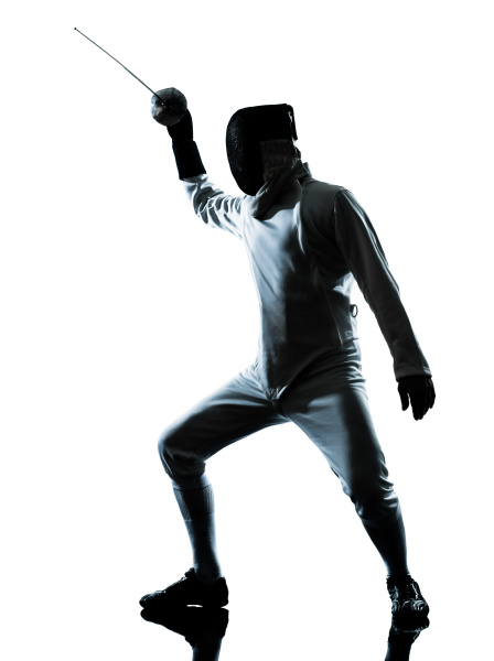 man fencing silhouette