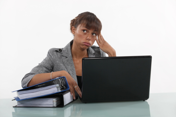 woman overwhelmed at work