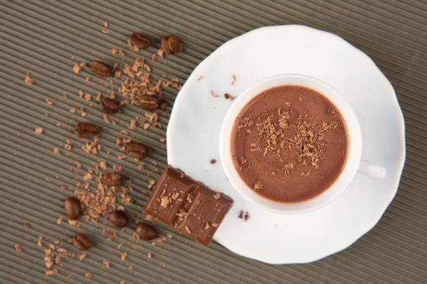 coffee with milk chocolate