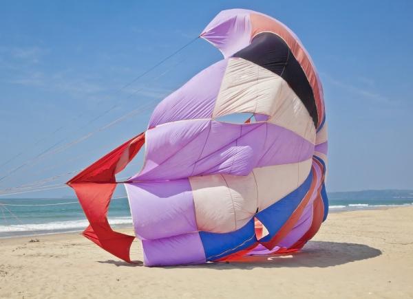 abstract parasail on goa beach india