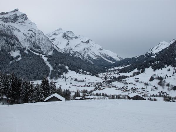 idyllic village gsteig bei gstaad in