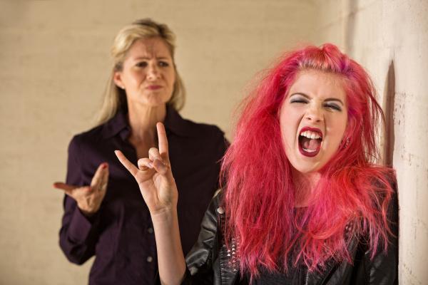 sneering parent and loud daughter
