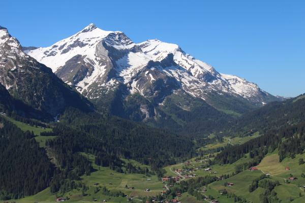 beautiful snow capped oldenhorn high mountain