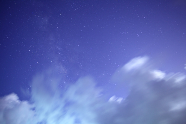 universal milky way galaxy with cloud