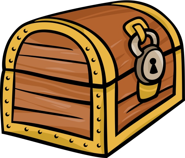 treasure chest clip art cartoon illustration
