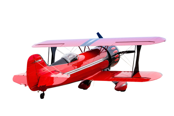 old plane isolated red plane