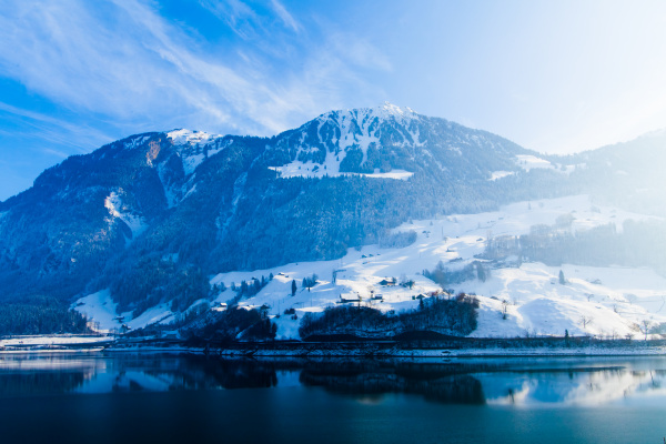 winter in the swiss alps
