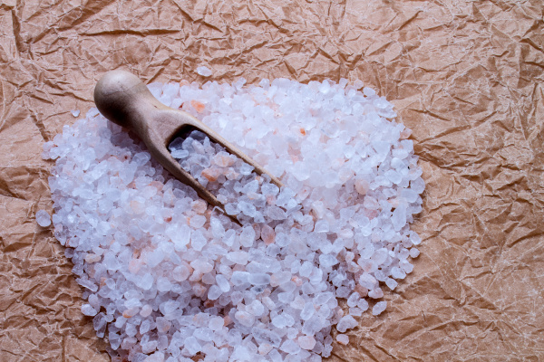 salt coarse on paper