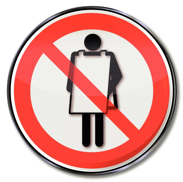 prohibition sign advertising ban