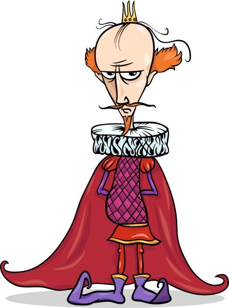king cartoon fantasy character