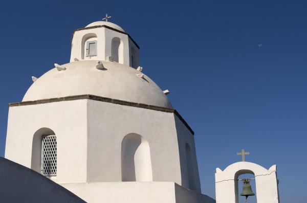 church in thira on santorini island