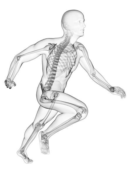 3d rendered illustration runner