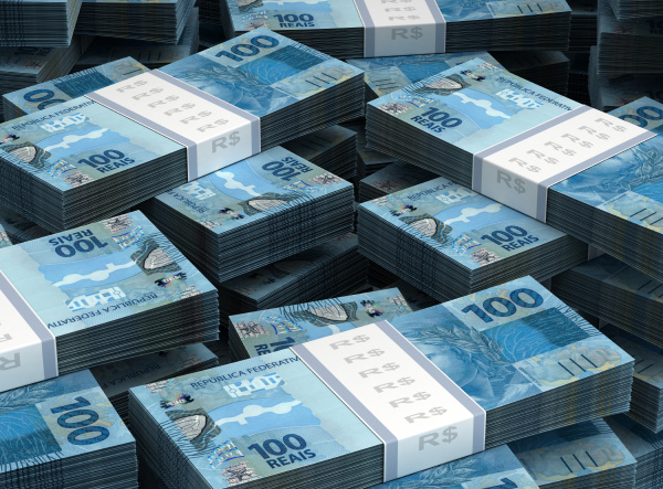 stack of brazilian real