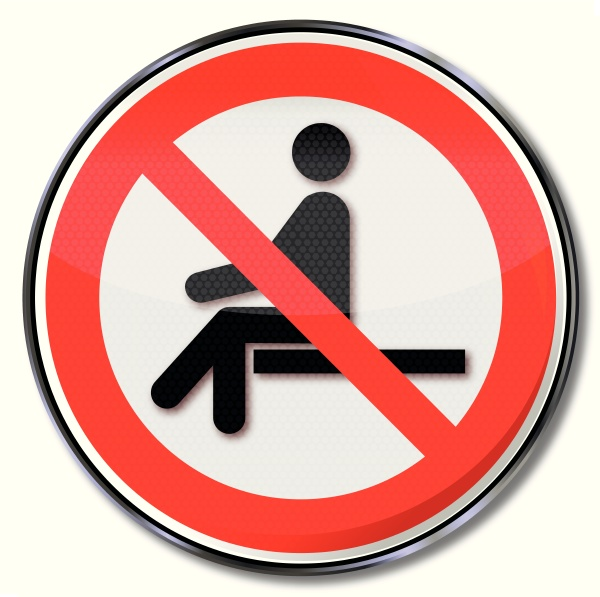 prohibition sign sitting banned