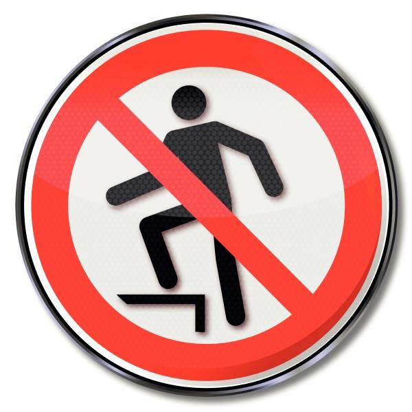 prohibition sign ascending banned