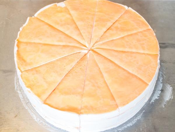 homemade whipped cream crepe cake