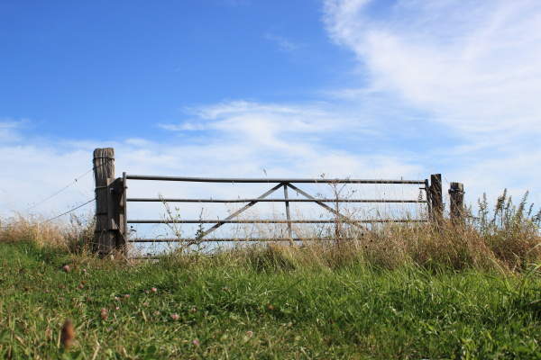 field gate on top of a