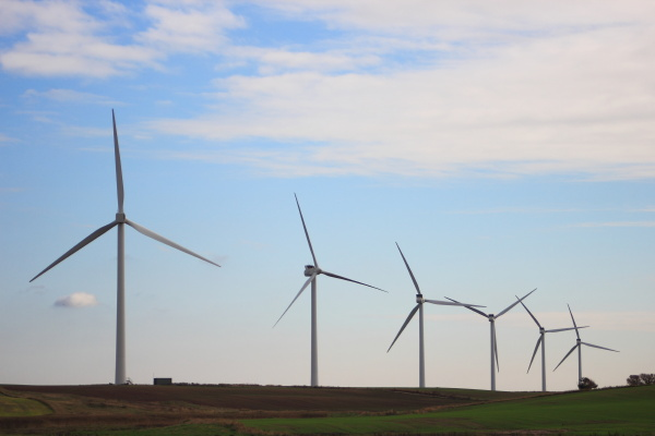 windmill park producing substainable energi on