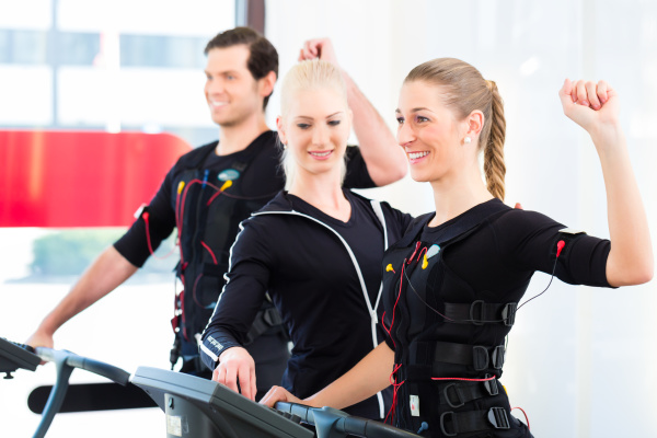 man and woman at ems training