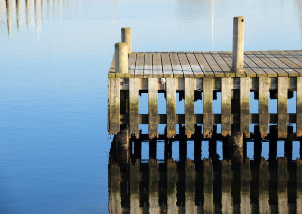 bathing jetty and landing stage for