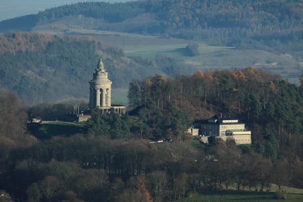 the burschenschafts monument near eisenach