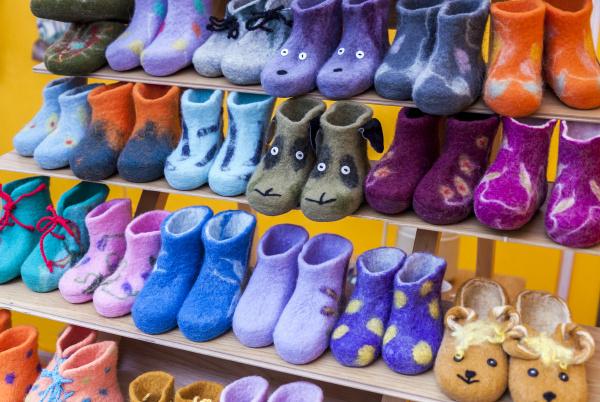 colorful child felt boots for sale