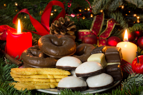 pastries and sweets at christmas time