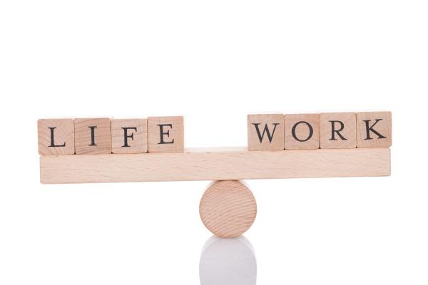 life and work blocks balancing on