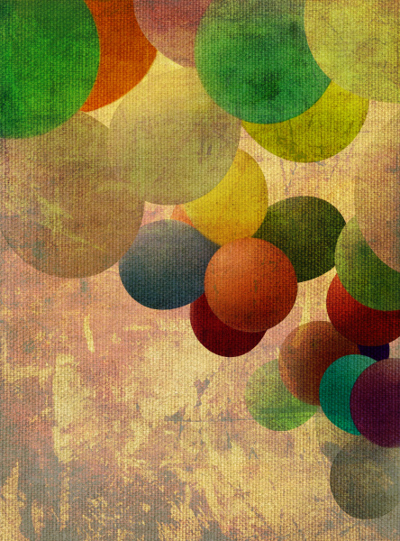 balloons old colorful texture