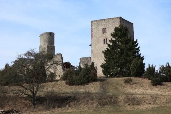 the ruins of brandenburg near lauchroeden